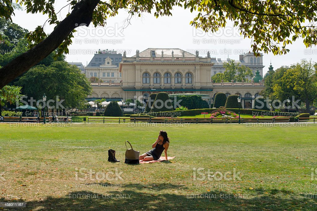 The Viennese City Park royalty-free stock photo
