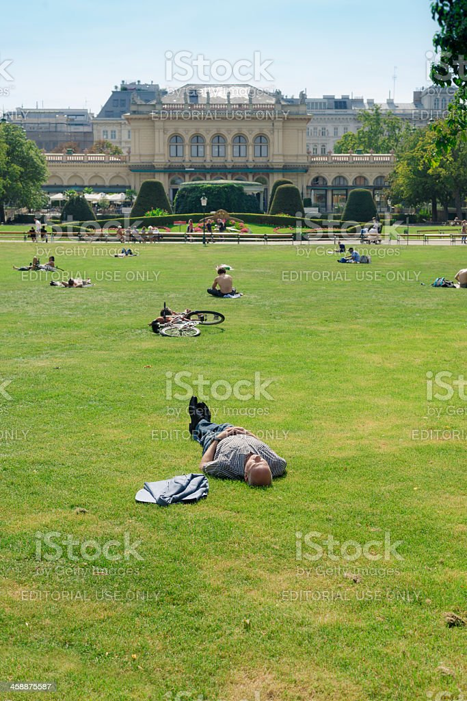 The Viennese City Park stock photo