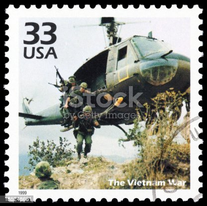 Cancelled Stamp From The United States: The Vietnam War.