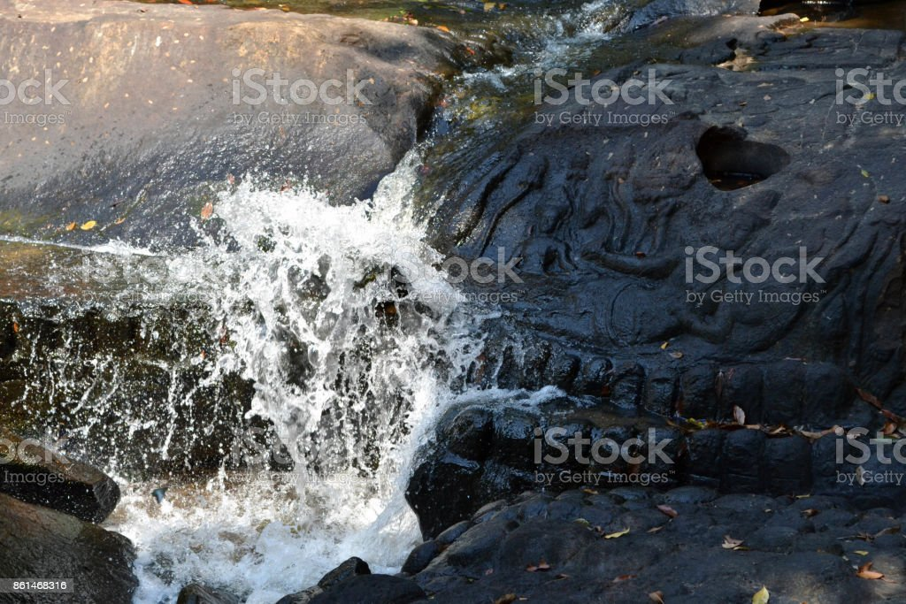 The view around Kbal Spean water spring, still in Siem Reap - Cambodia stock photo