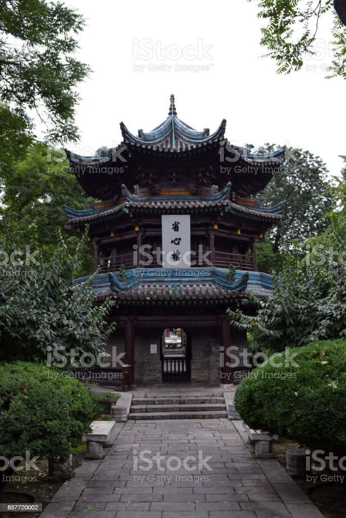 The view around Xi'an Great Mosque, considered as one of the most important place for Chinese Muslims in China stock photo