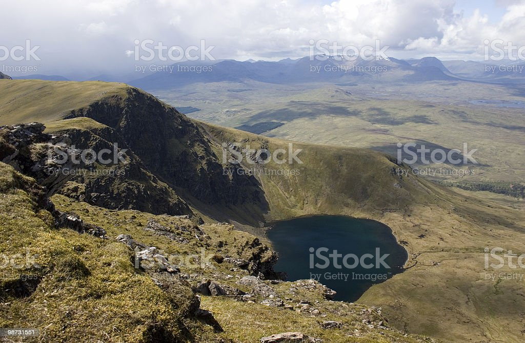 The View From Beinn A' Chreachain royalty-free stock photo