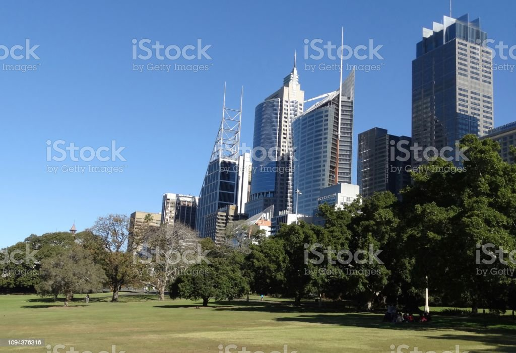 The view from Botanic Gardens to the modern city