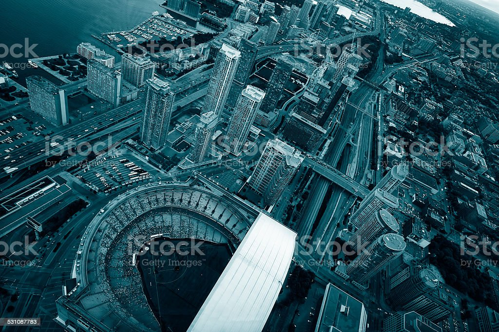The view from CN Tower stock photo