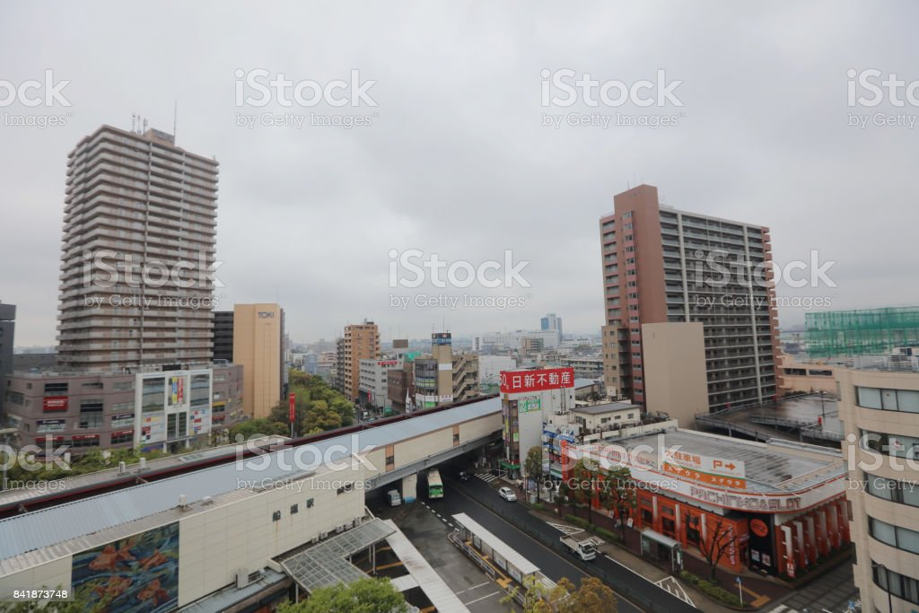 the View from Funabashi Civic Center stock photo
