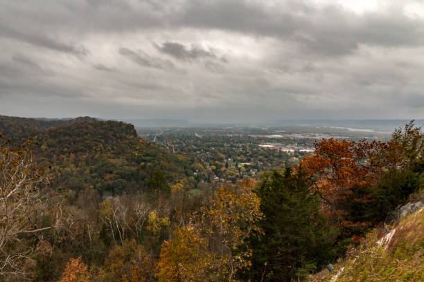 The view from Grandad Bluff stock photo