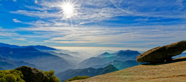 The View from Hanging Rock in Sequoia National Park stock photo