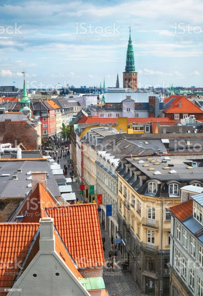 Der Blick aus dem Rundturm in Kopenhagen. – Foto