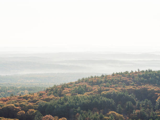 The view from the Summit Road on Mount Wachusett in Princeton Massachusetts stock photo