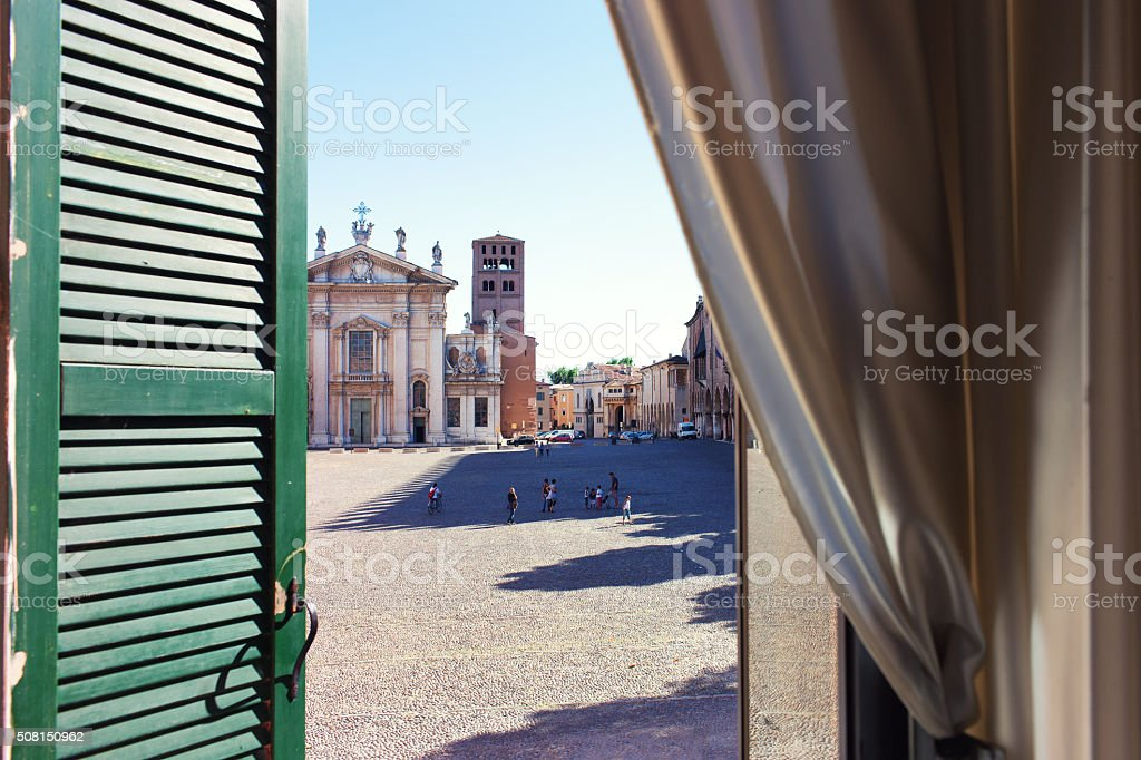 The view from the windows on the square stock photo