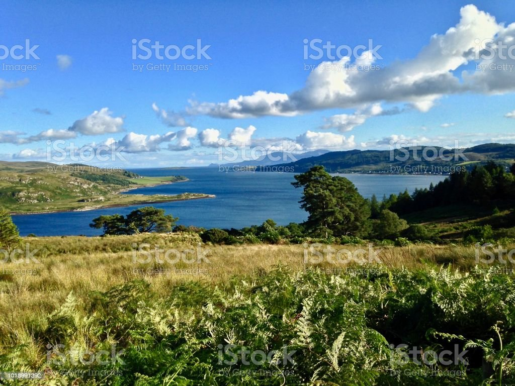 The View From Tighnabruaich Cross to Bute stock photo