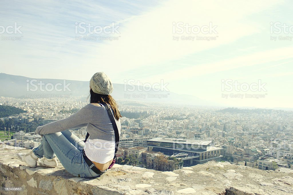 The view of a big city royalty-free stock photo
