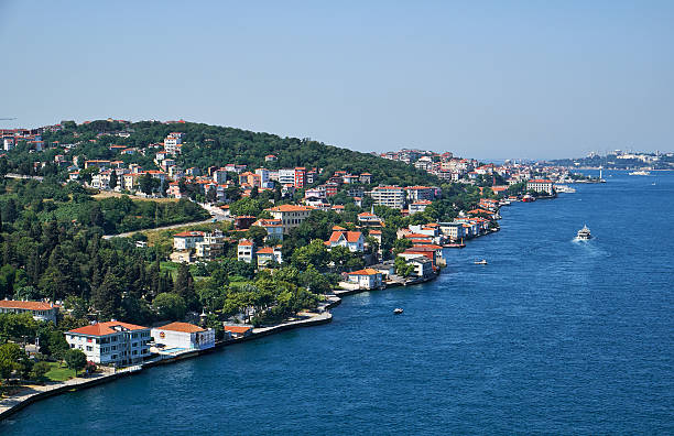 The view of Asian shore of Istanbul and Bosphorus, Turkey – Foto