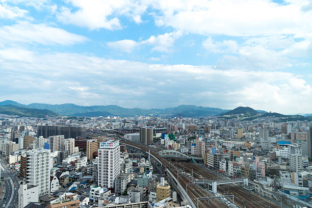 the view of hiroshima at noon, japan - hiroshima zdjęcia i obrazy z banku zdjęć