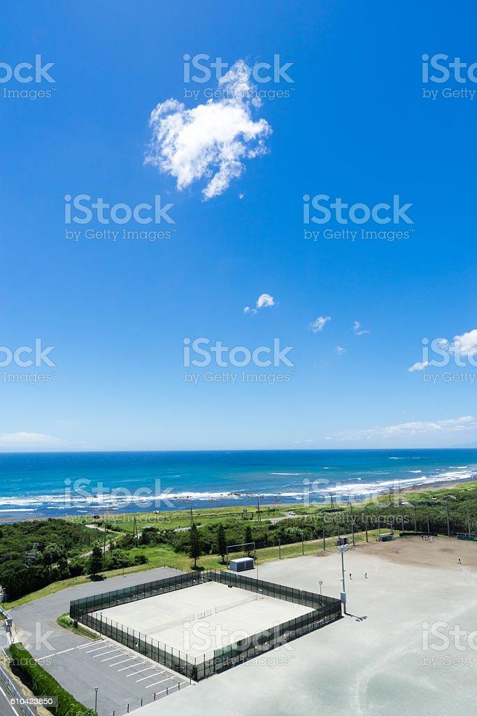 The view of Minami Boso coast 2. stock photo