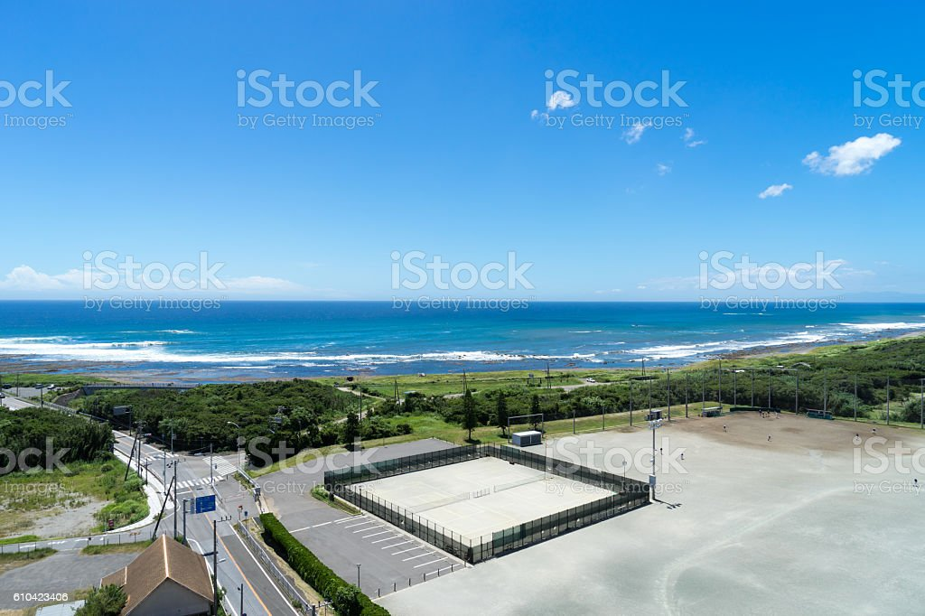 The view of Minami Boso coast stock photo