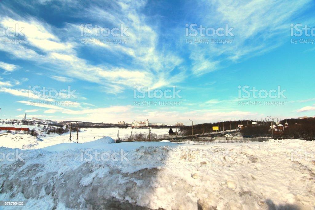 The view of Murmansk city ,Russia photo libre de droits