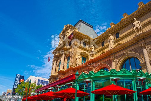 Las Vegas, United States of America - May 05, 2016: A view of Paris hotel at Las Vegas strip on May 05, 2016 in Las Vegas.