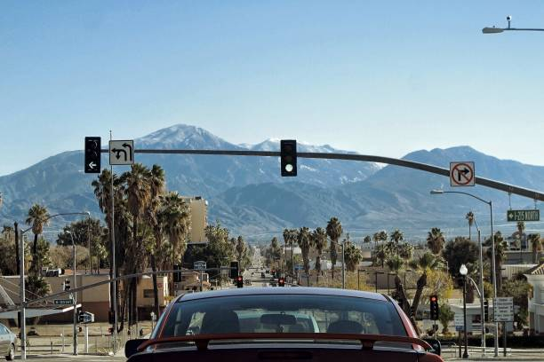 The View of San Bernardino California and Mountains California, San Bernardino, California san bernardino california stock pictures, royalty-free photos & images