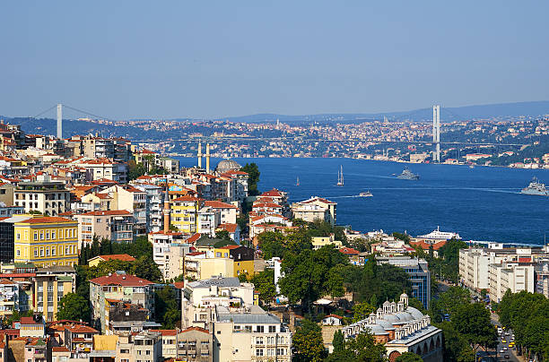 The view on  Bosphorus with Bosphorus bridge, Istanbul, Turkey – Foto