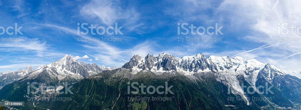 the view on the Mont Blanc stock photo