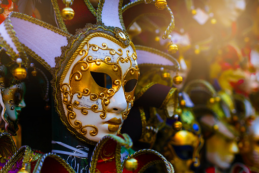 The view on the Venetian's mask, Italy
