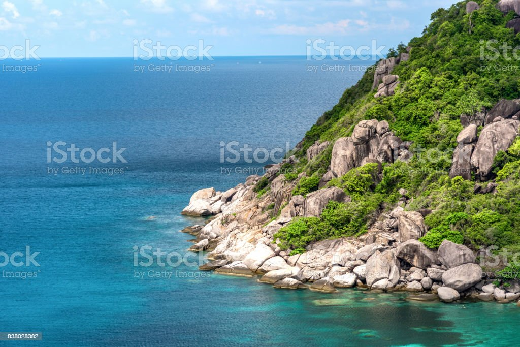 The view point of Nang yuan island. Thailand stock photo