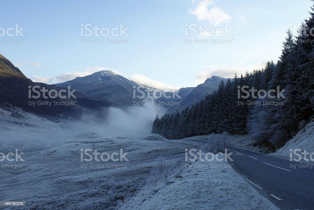 The view to Nevis Mountains stock photo