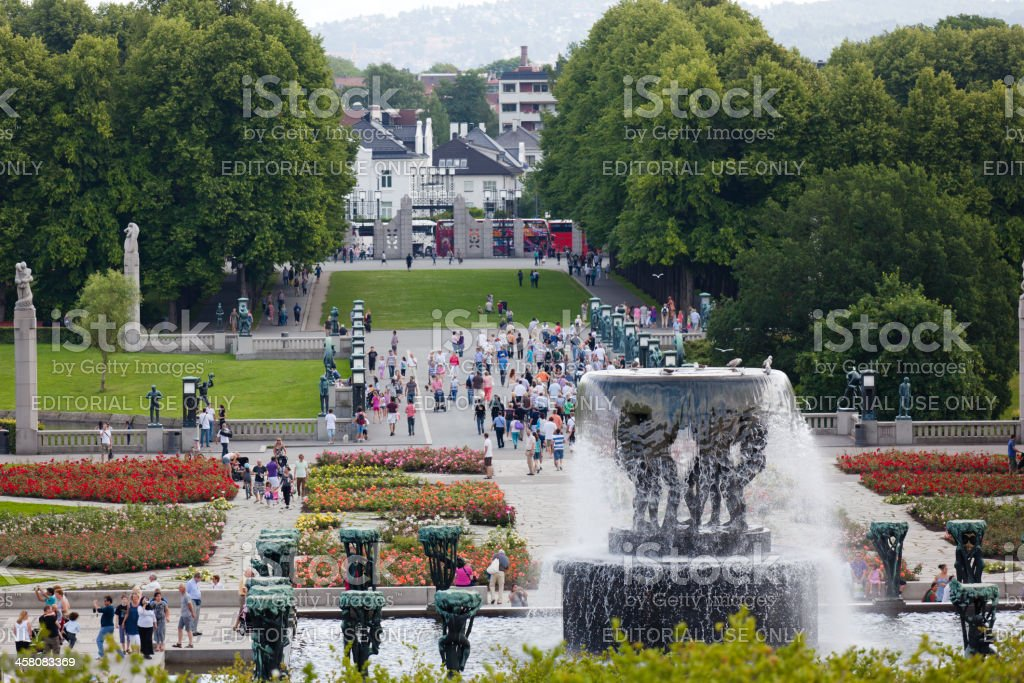 The Vigeland Park in Oslo stock photo