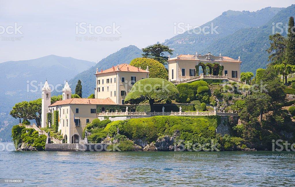 The Villa del Balbianello on Lake Como, Italy stock photo