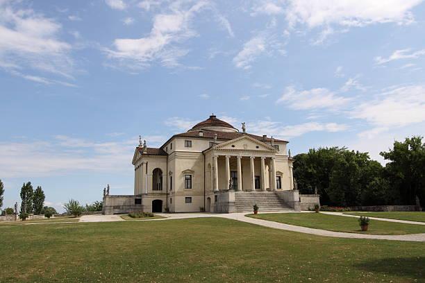 die villa rotunda von andrea palladio - vicenza stock-fotos und bilder