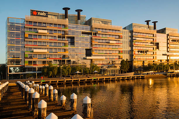 The Village at NAB, Docklands stock photo