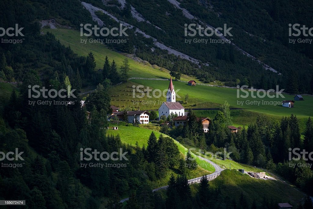 the village gramais in tirol, austria, lechtaler alps royalty-free stock photo