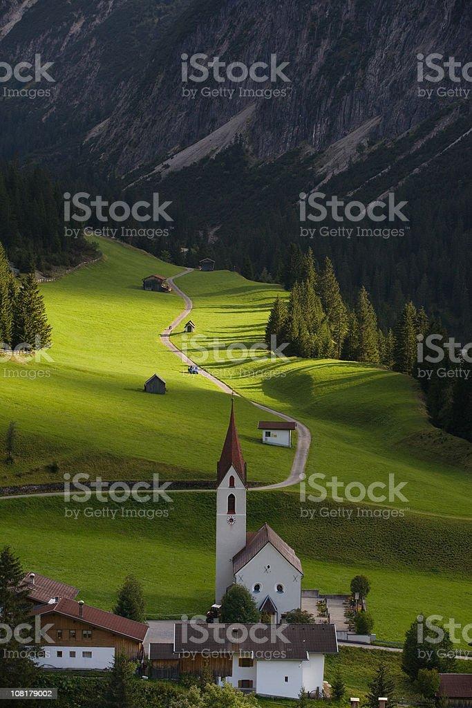 the village gramais royalty-free stock photo