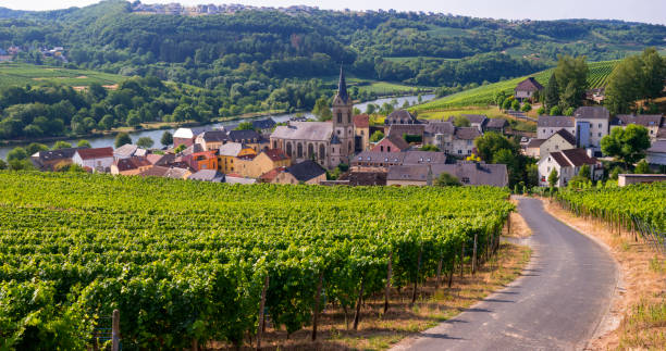 The Village of Ahn, Luxembourg stock photo