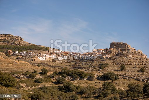 The village of Ares del Maestre in the province of Castellon, Spain