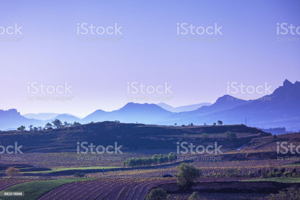 The village of Briones and fields. La Rioja, Spain Стоковые фото Стоковая фотография