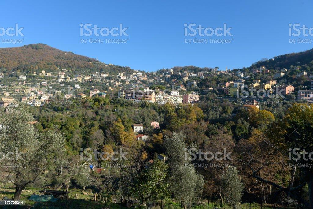 The village of Camogli royalty-free stock photo