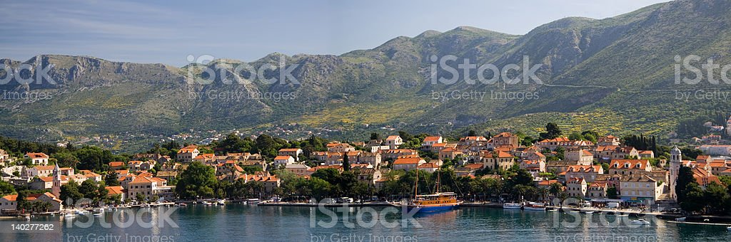 The Village of Cavtat in Croatia stock photo