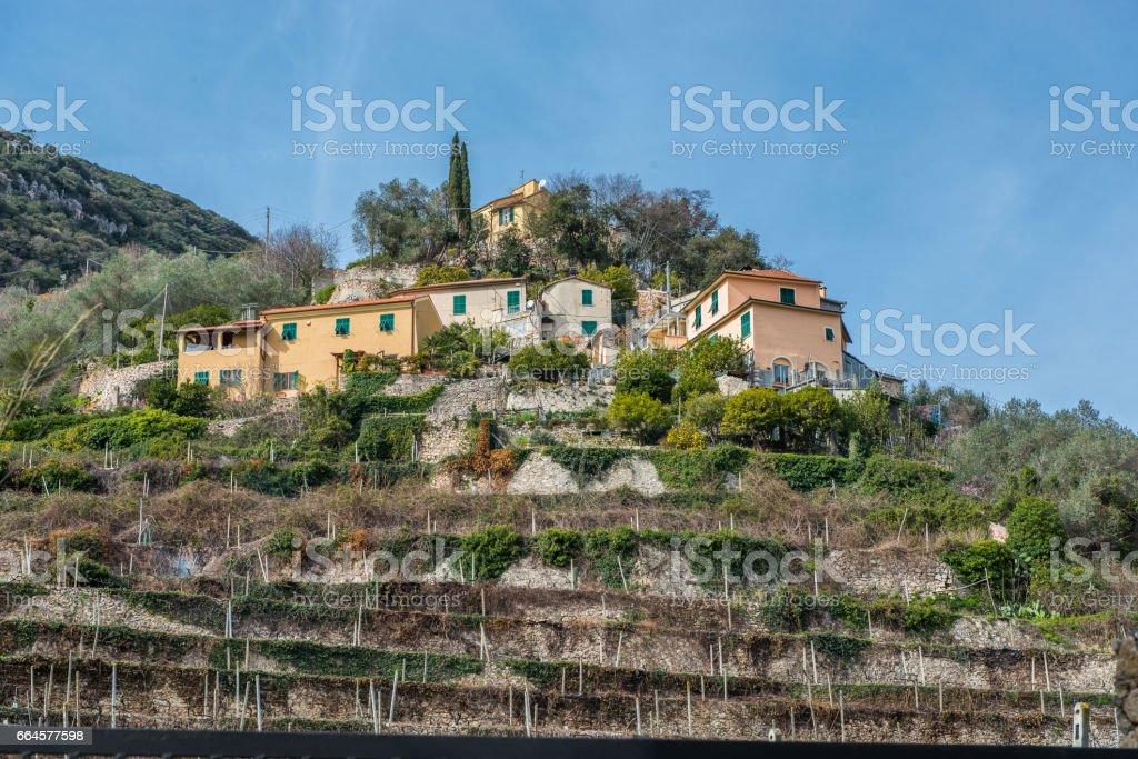 The village of Finalborgo royalty-free stock photo