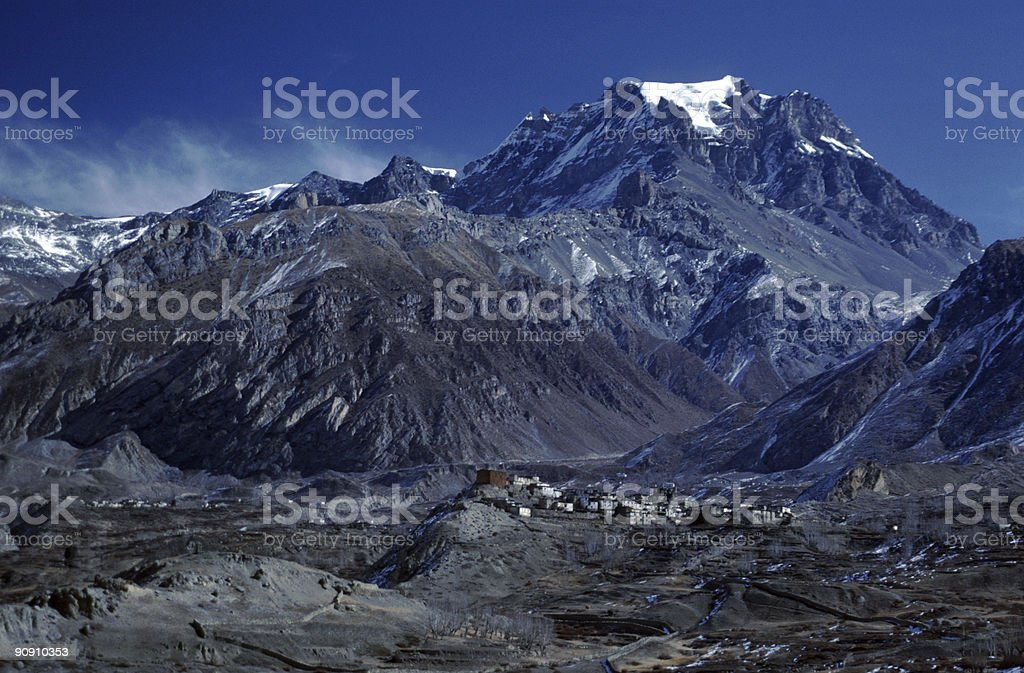 The village of Jharkot, Nepal royalty-free stock photo
