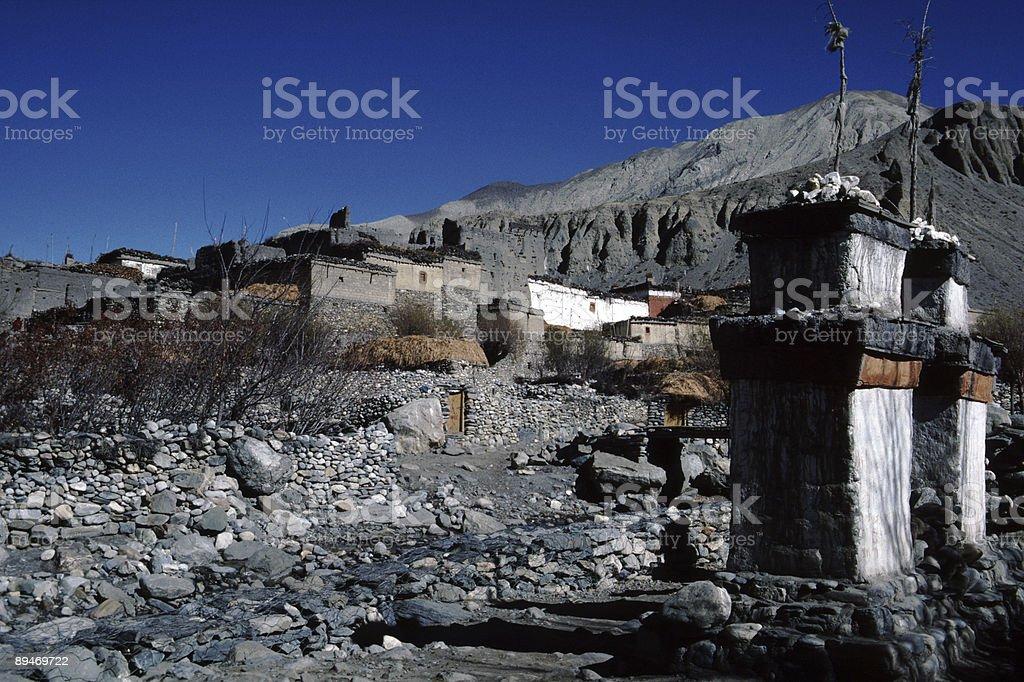 The village of Kagbeni, Nepal royalty-free stock photo