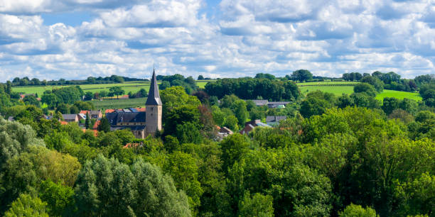The Village of Noorbeek in the Netherlands stock photo
