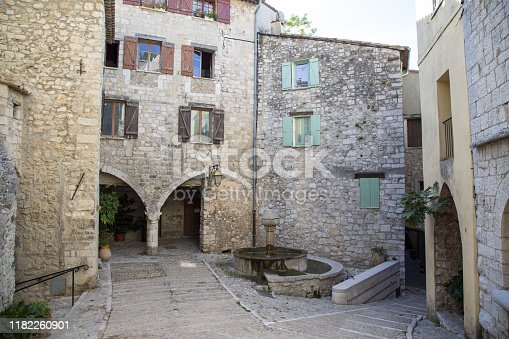 The 12th century French village of Peille in the French Alps
