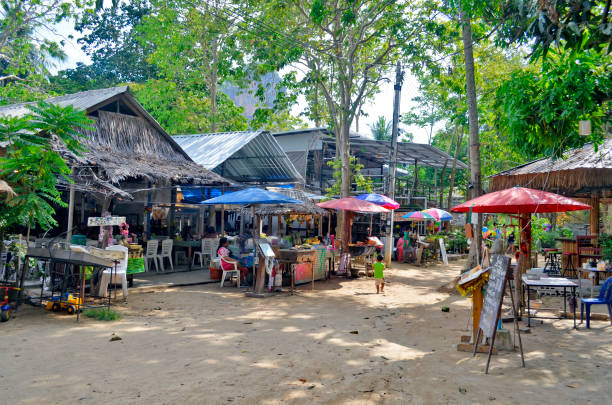 The village of Railay stock photo