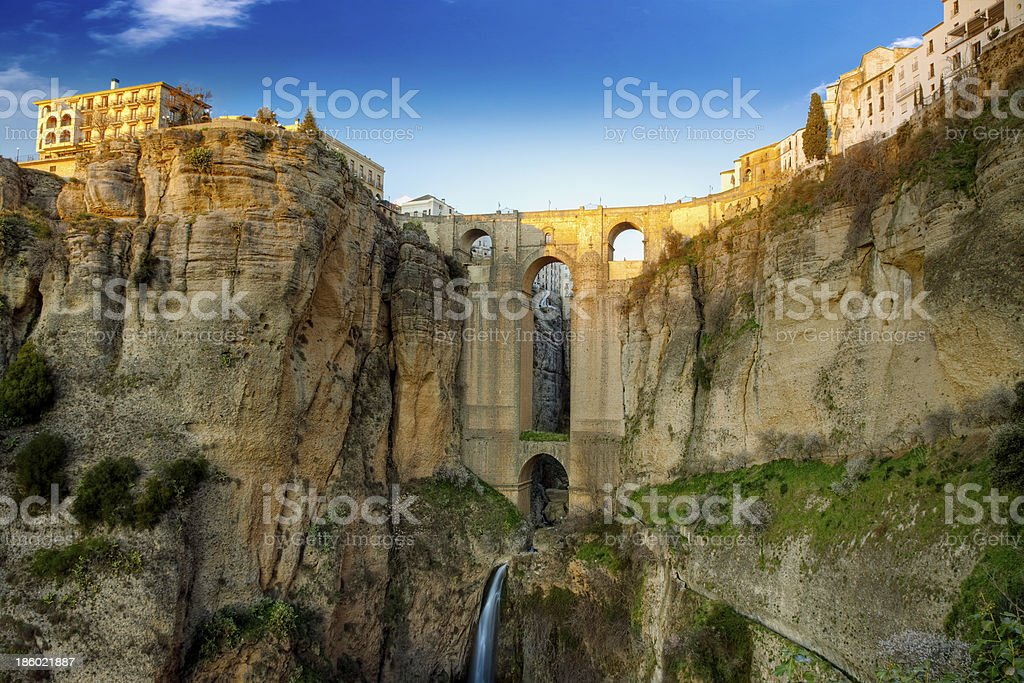The village of Ronda in Andalusia stock photo