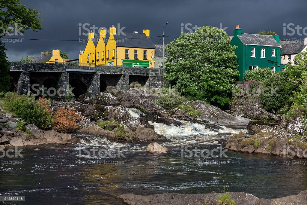 The village of Sneem - County Kerry - Ireland stock photo
