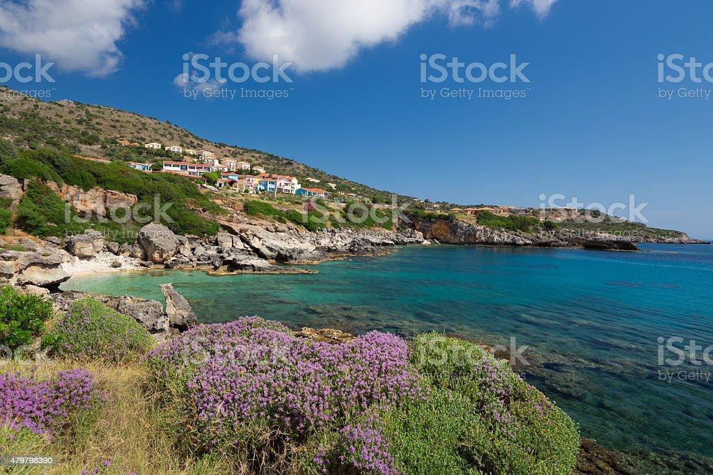 The Village Skala in Kefalonia, Greece. stock photo