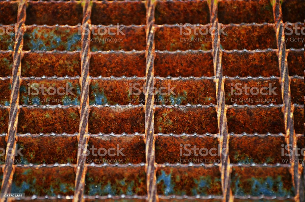 The vintag rusty grunge steel stock photo