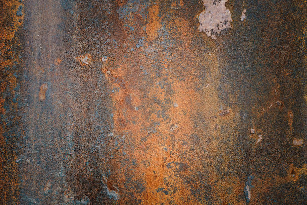 The vintag rusty grunge steel textured background - foto de stock